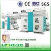 4 Colors Non Woven Bag Central Drum Flexographic Printing Machine