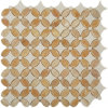 Honey Onyx Mix Thassos Flower Shaped Tiles
