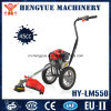 2015 Manual Durable Handpush Brush Cutter with Wheels Lawn Mower