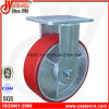 6 Inch Red PU Rigid Caster