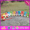 2017 Wholesale Baby Wooden Pulling Train Toy, Funny Kids Wooden Pulling Train Toy, Numbers Wooden Pulling Train Toy W05c079