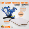 4 Color 1 Station Silk Screening Press Printing Machine