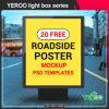 Outdoor Advertising LED Light Pole Lightbox