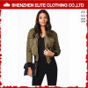 Fashion Garment Army Green Bomber Jacket Women (ELTBJI-43)