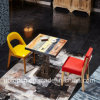 Durable Restaurant Furniture Set with Clashing Colors Wooden Chair (SP-CT798)