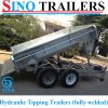 Tandem Galvanized Heavy Duty Hydraulic Tipper Trailers