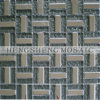 Golden Powder Mix Stainless Steel Living Room Crystal Glass Mosaic Wall Tile (KB06)