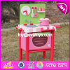 2017 New Design Mini Pink Wooden Girls Play Kitchen W10c269