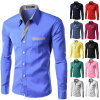 New Casual Shirts Long-Sleeved Men Shirt Business Casual Slim Fit