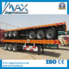 30-50ton 3 Axle 40FT Container Flatbed Semi Trailer