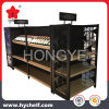 High Quality Wooden and Metal Display Shelf