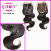 Beauty Cambodian Virgin Remy Hair Body Wave Silk Top Lace Closure (LC-024)
