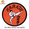 Round Shape Custom Karate Logo Embroidery Badge