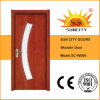 Residential High Quality Glass Interior Teak Wooden Plywood Door (SC-W099)