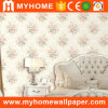 PVC Embossed Flowers Room Decoration Wall Paper New 2016