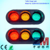 En12368 Approved 300mm Flat Clear LED Flashing Traffic Light / High Flux Traffic Signal
