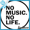 Custom Production No Music No Life Bumper Sticker