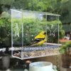 100% Clear Acrylic Window Bird House, Best Outside Window Mounted Bird Feeders for Kids & Cats