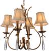 Iron Chandelier Lighting, K9 Crystal, 4 LED Lights (SL2014-4)