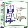 Supermarket Wheeled Climbing Step Ladder Cart Trolley