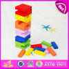 2015 High Quality Colorful Kid Stacking Toy, 54PCS Custom Wooden Jenga Stacking Toy, Funny Children Stacking Toy Wholesale W13D082