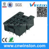 General Miniature Black Color Electro-Magnetic Industrial Relay Socket with CE