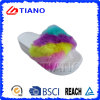 Rainbow Color Upper High Platform PVC Outdoor Women Slipper (TNK35738)