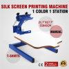 Single Color Screen Press Printing Machine W/ Removable Pallet Special Design for Beginners DIY ...