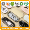 Glasses Tin Case with Hinge OEM Factory, Meta Tin Box