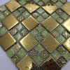 30X30 Cheap Price Mixcolor Polished Crystal Glass Mosaic Tile