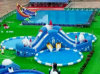 Anti-UV 0.9mm Thick Giant Inflatable Water Park (HL-307)