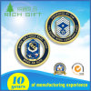 Customized Zinc Alloy Gold Navy Challenge Silver Coin with Logo Hollow out