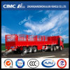 Standard Cimc Huajun Single Tire Cargo Semi Trailer