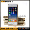 Latest Rechargeable Golden External Backup Battery Power Case Cover for iPhone 5 5s Retail Package