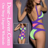 Super Sexy Purple Bandage Cutout Monokini