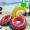 Floating Inflatable Air Lemon Swan Watermelon Swimming Ring Pool Float