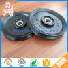 Black Big Size Pulley Wheel with Embossed Logo