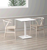 Uispair 100% Steel Modern Table Office Home Living Dining Room Bedroom Kitchen Garden Furniture