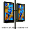 Street Lamp Lighting Pole Column Pillar Advertising Outdoor LED Backlit Banner PVC Film Flex Light Box