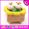 2015 New Custom Made Wooden Music Box, Popular Mini Music Box Wholesale, Promotional Gift Wooden Toy Music Box Toy W07b003