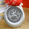 Jiabo Supply Antique Silver Embossed 3D Custom Kungfu Medals