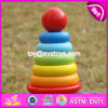 New Design Colorful Rainbow Town Kids Wooden Stacking Rings Toy W13D136