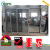 UPVC/ PVC Three Track Sliding Door Laminated Wood Color