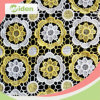 Milky Polyester 110cm Chemical Gold Lace Fabric
