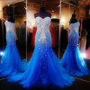 Crystals Wedding Prom Gowns Real Photo Formal Evening Dresses Z5070
