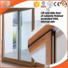 Solid Wood Lift Sliding Door with Integrated Automatic Shutters, Perfect America Villa Wood Aluminum Lift Sliding Door