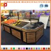 Metal Wooden Supermarket Vegetable and Fruit Display Rack Units (Zhv83)