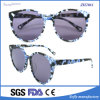Italian Brand Names Fashion Acetate Sunglasses with Flower Pattern