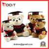 School Anniversary Gift Graduation Bear with Glass