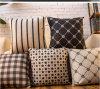 Simple Black and White British Classic Retro Modern Geometric Cushion